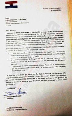 Benicio Robinson y Pedro Miguel González, en pugna por las alianzas