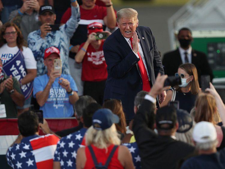Trump en Florida y Georgia, dos estados clave que Biden podría arrebatarle