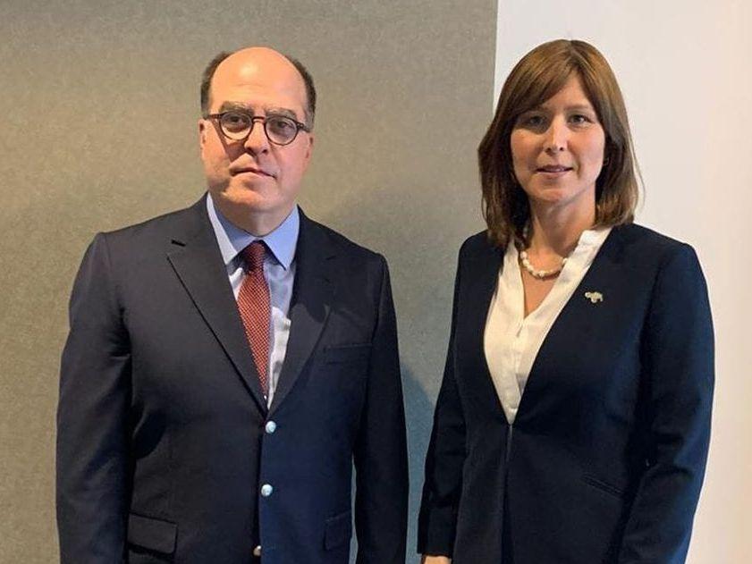 Canciller Ferrer recibe visita de cortesía de Julio Borges, enviado de Guaidó