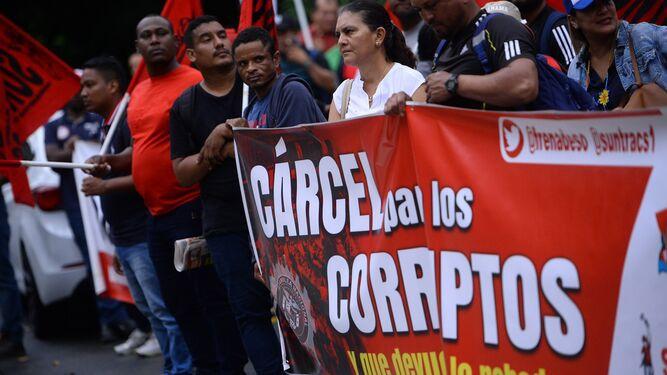 Frente a la Corte, Frenadeso protestó contra la 'impunidad' en Panamá