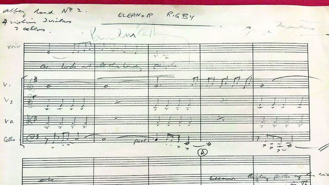 Partitura de 'Eleanor Rigby' será subastada