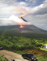 Por amenaza del Mayon evacuan a 10 mil personas