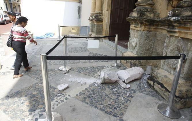 Vandalizan fachada de iglesia Nuestra Señora de la Merced