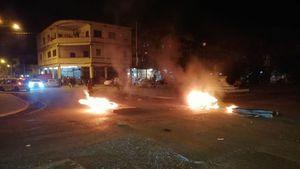 Cierran calles, queman llantas y prenden fuego a la casa Wilcox en Colón