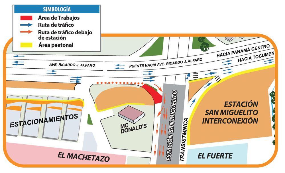Anuncian nuevo desvío este fin de semana por trabajos del Metro en San Miguelito