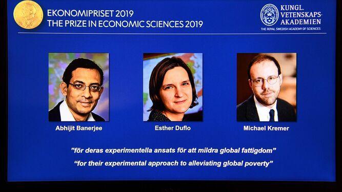 Nobel de Economía para tres estadounidenses por sus trabajos sobre la pobreza