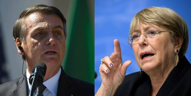 Bolsonaro acusa a Bachelet de entrometerse en la soberanía de Brasil