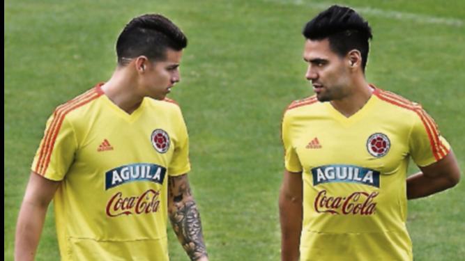Colombia se entrenó ayer con su plantel completo
