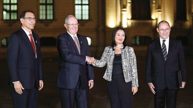 Kuczynski y Keiko Fujimori buscan diálogo