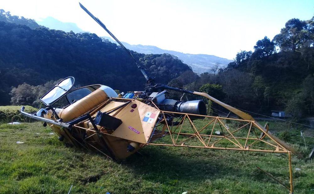 Se cae un helicóptero en Las Nubes de Cerro Punta; reportan tres heridos