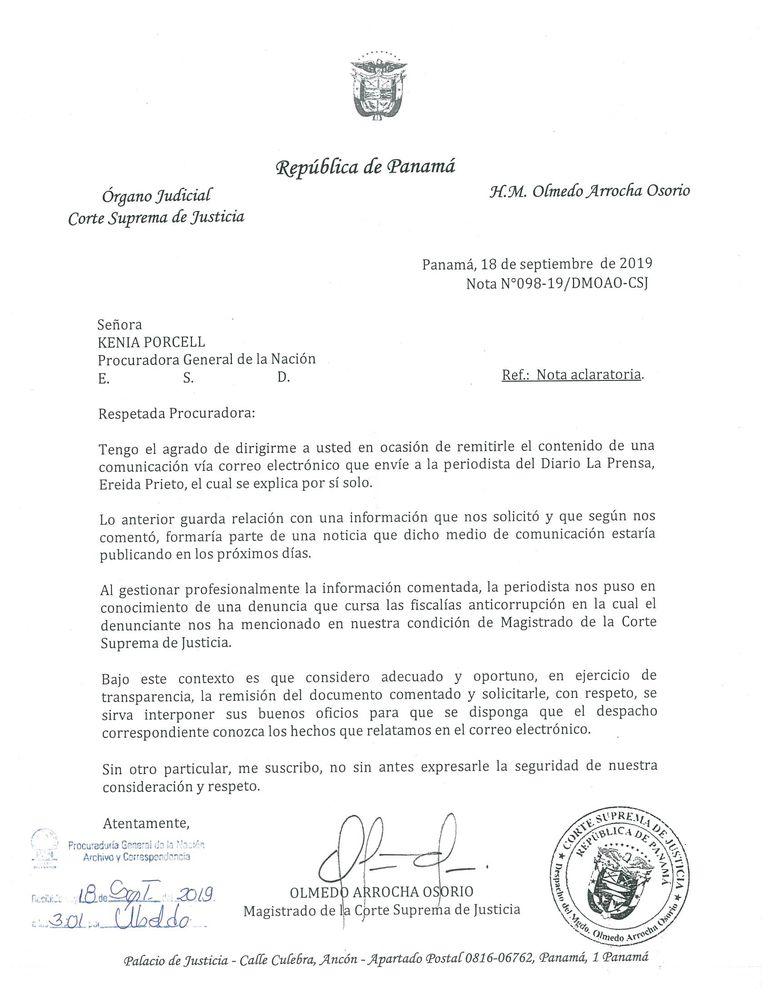 Magistrado Arrocha presenta solicitud para que lo declaren impedido en caso Cacsa
