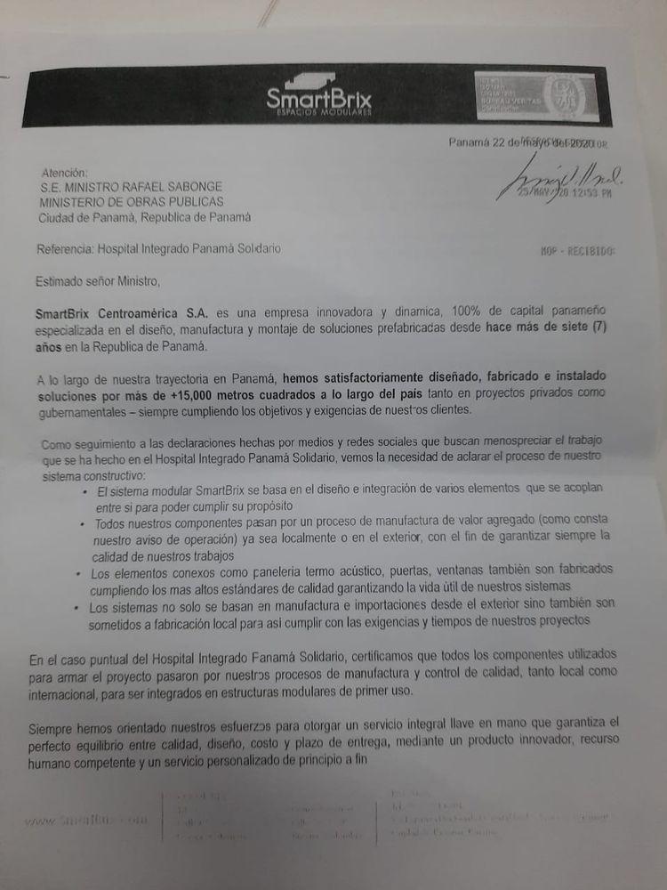 El Ministerio Público investiga el  hospital modular de Albrook