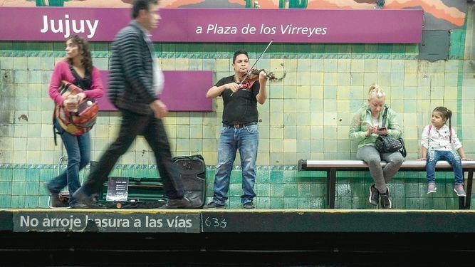 Orquesta venezolana en el metro