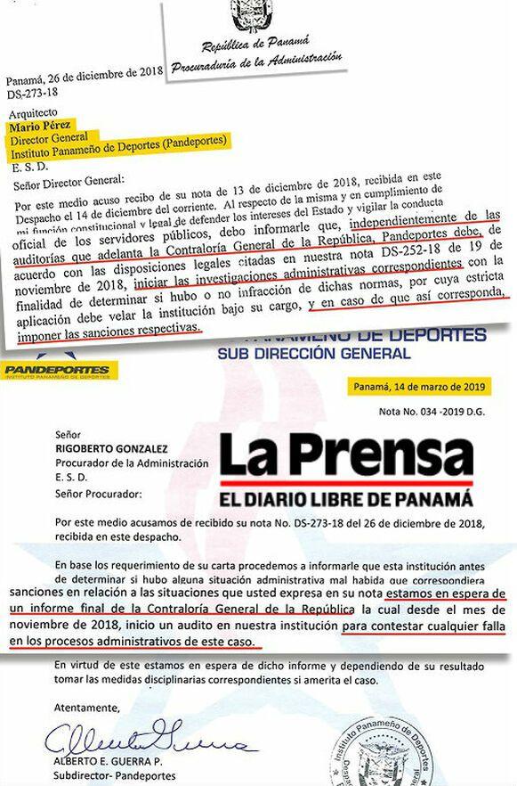 Procurador Rigoberto González exige a Pandeportes cumplir su rol