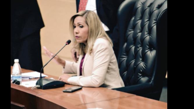 Ábrego presenta informe; la impugnan como diputada del 8-2
