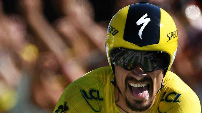 Alaphilippe gana la contrarreloj de 13ª etapa del Tour
