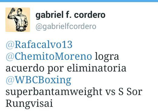 Ordenan pelea eliminatoria entre el panameño Chemito Moreno y Sor Rungvisai