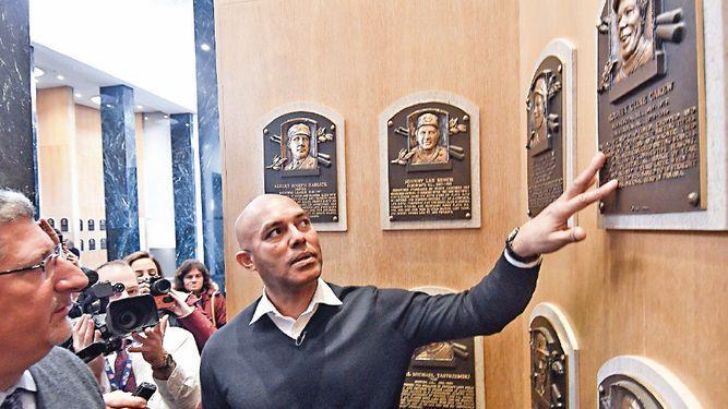 Mariano Rivera visita su futura casa en Cooperstown
