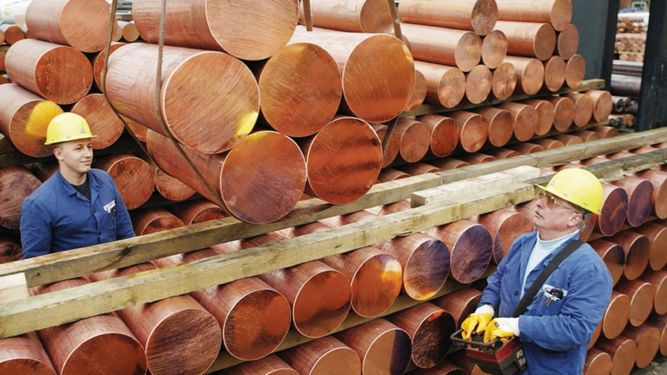 Precio del cobre se recuperó en agosto
