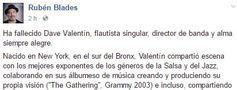 Fallece el flautista de 'jazz', Dave Valentín
