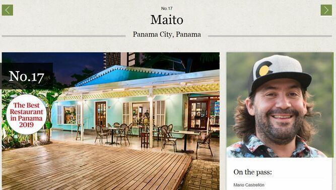 Maito, en la posición 17 de los mejores restaurantes latinos