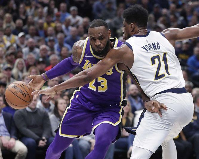 LeBron se queda corto y Lakers ceden ante los Pacers