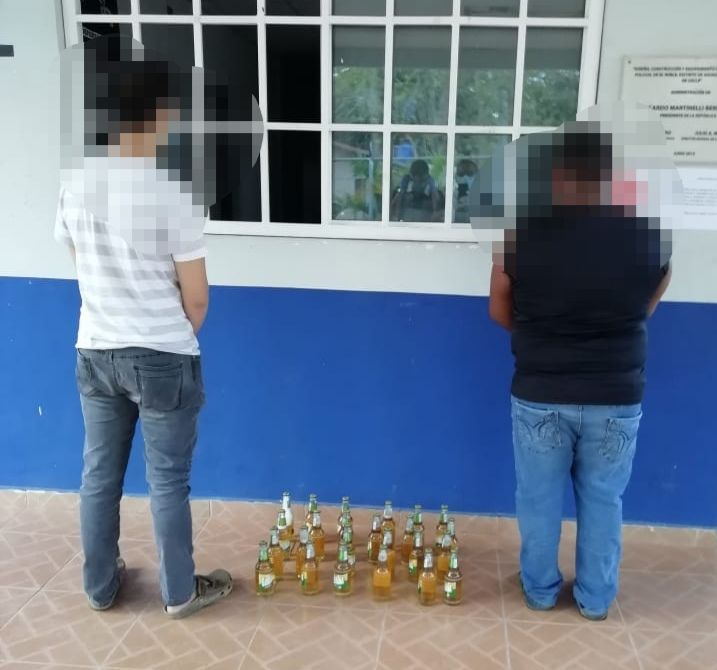 Aprehenden a dos hombres con 12 cajas de cervezas en Pocrí