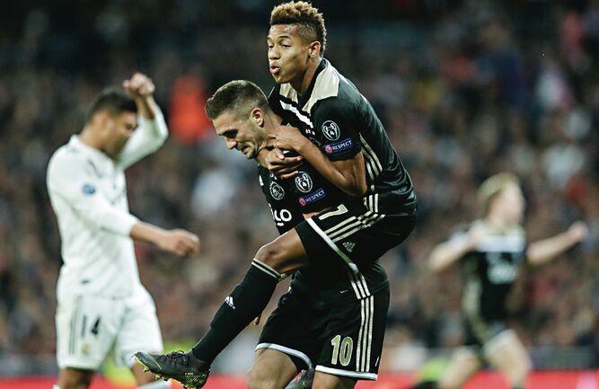 Las acciones del Ajax suben un 7,8% tras eliminar al Real Madrid