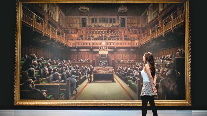 Subastarán una de las obras más polémicas de Banksy