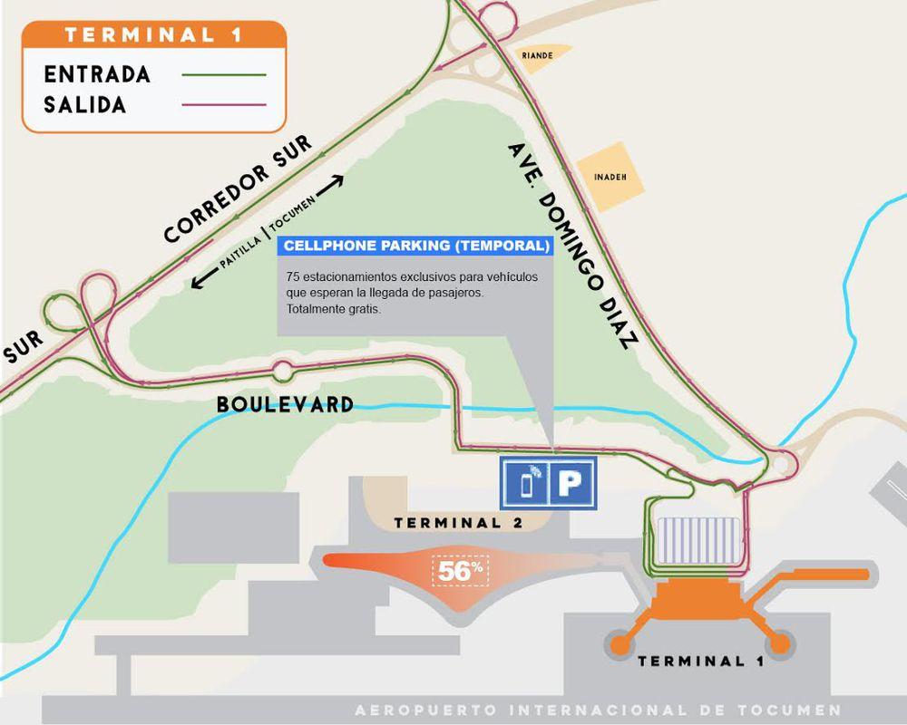 Aeropuerto de Tocumen inaugura estacionamiento gratis y nuevo acceso a través del corredor Sur