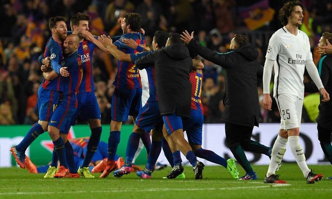 Se hizo el milagro: Barcelona remonta al PSG  y clasifica a cuartos de final