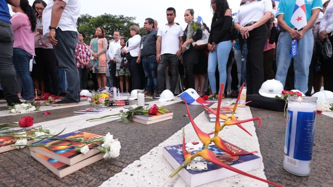 Protestan en la vía Centenario, tras la muerte por atropello de una alumna de la UTP