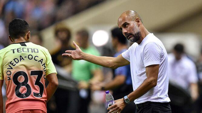 Guardiola quiere que Leroy Sané siga en el Manchester City