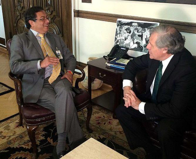 Gustavo Petro pide a la OEA mayor vigilancia electoral en Colombia