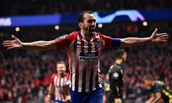 Los centrales uruguayos del Atlético someten al Juventus en la Liga de Campeones