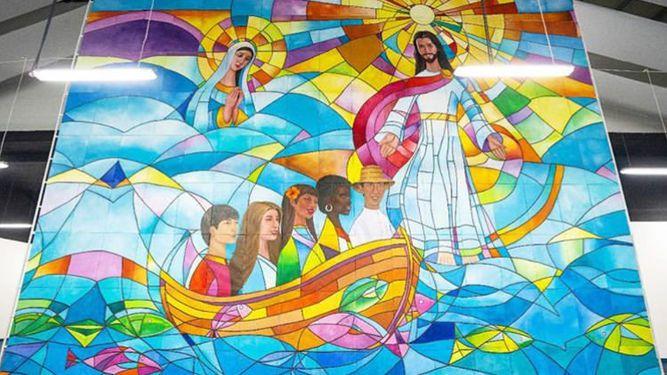El mural panameño para la misa de clausura de la Jornada Mundial de la Juventud