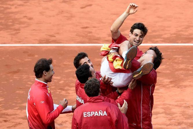 Españapasa a semifinales de la Copa Davis