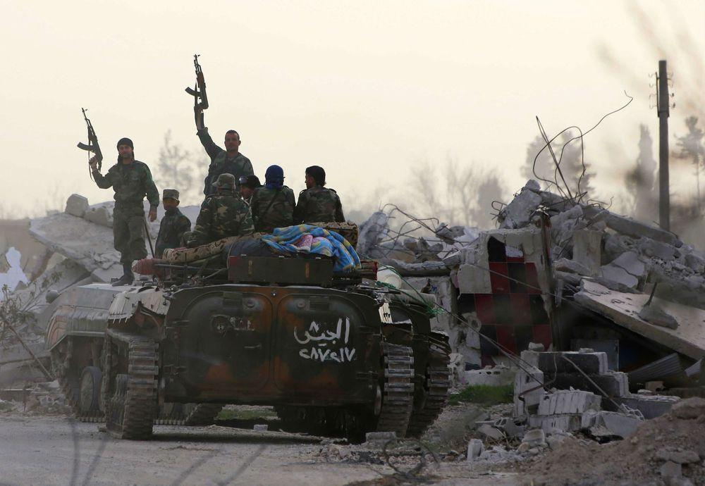 Tropas sirias avanzan en zona rebelde cerca de Damasco