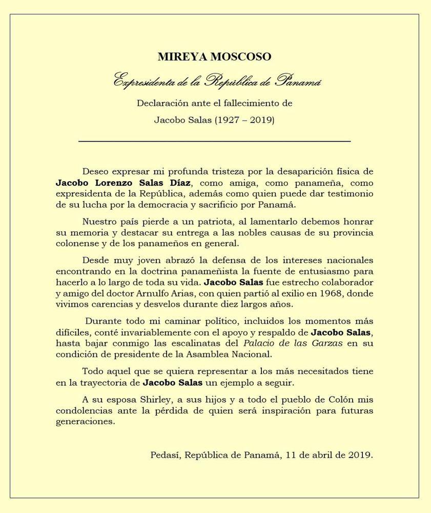 Muere Jacobo Salas, exlegislador y expresidente de la Asamblea Nacional