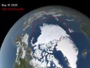 Casquete polar ártico en su segundo nivel más bajo desde que hay registro, según centro de Estados Unidos