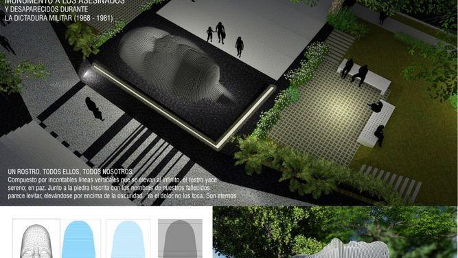 Así será el monumento a las víctimas de la dictadura militar en Panamá