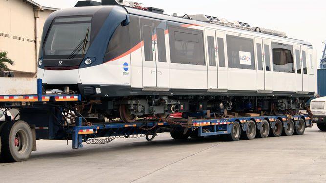 Llega el primer tren de la Línea 2 del Metro de Panamá