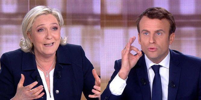 Choque frontal entre Macron y Le Pen en el debate final en Francia