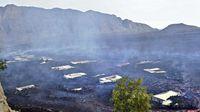 Lava del volcán Fogo se traga un pueblo completo en Cabo Verde, África (Fotos)