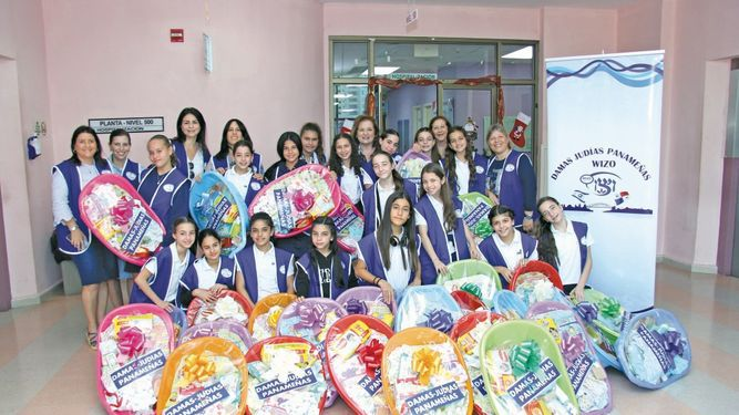 LasDamasJudíasPanameñas WIZO visitaron la Maternidad del HST