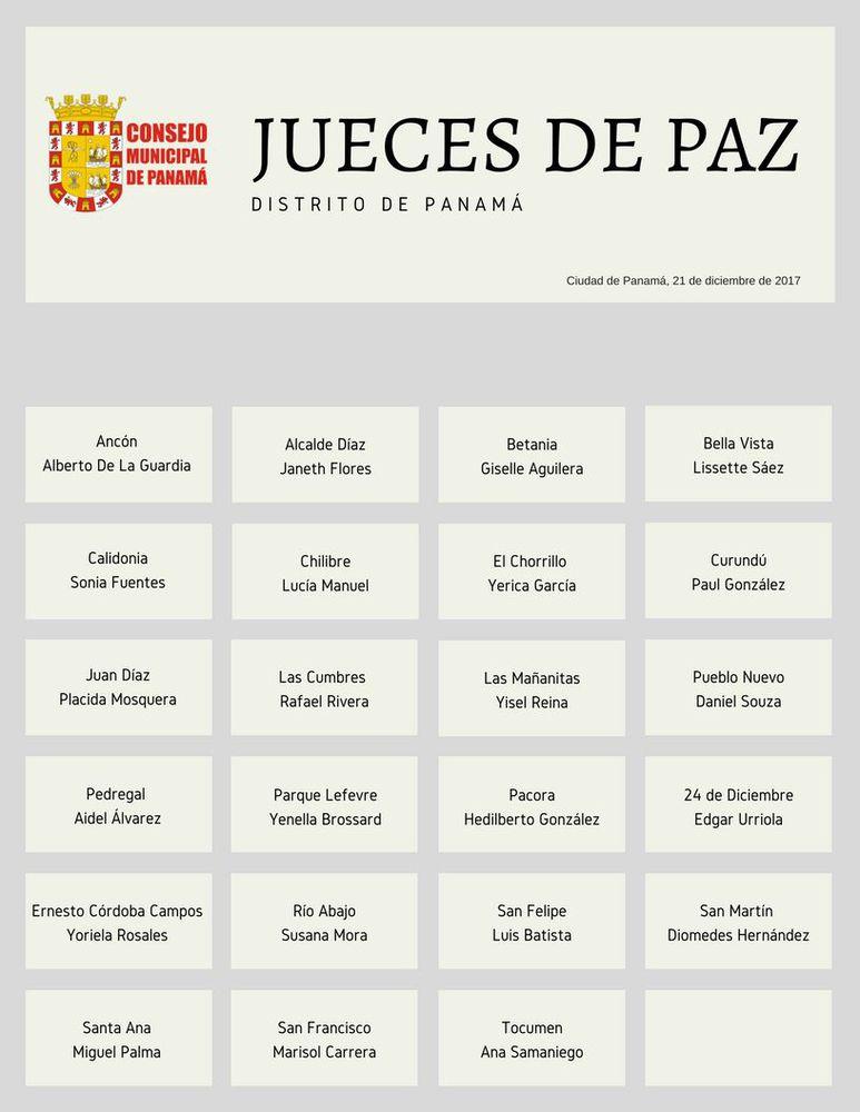 Aprueban selección de 23 jueces de paz en la capital