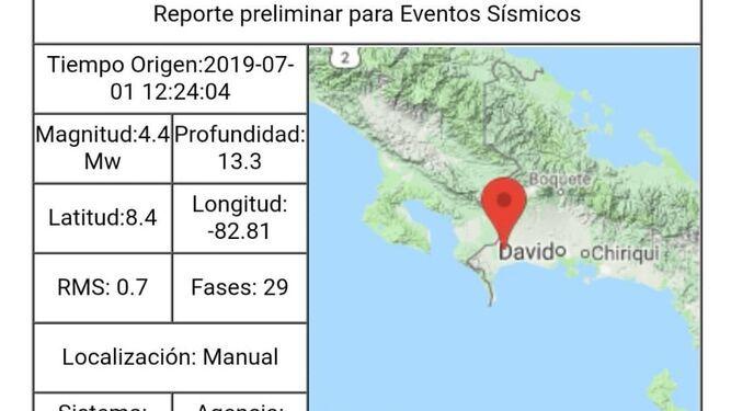 Levantan alerta verde en Chiriquí tras sismos