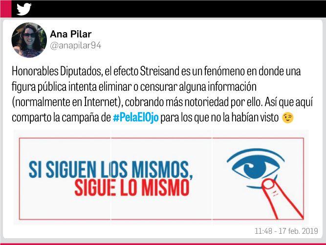 Restricción de #PelaElOjo le dio más impacto