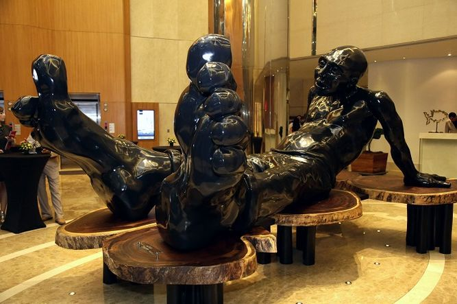 Las esculturas de 'Big Foot' y su familia se hospedan en Panamá