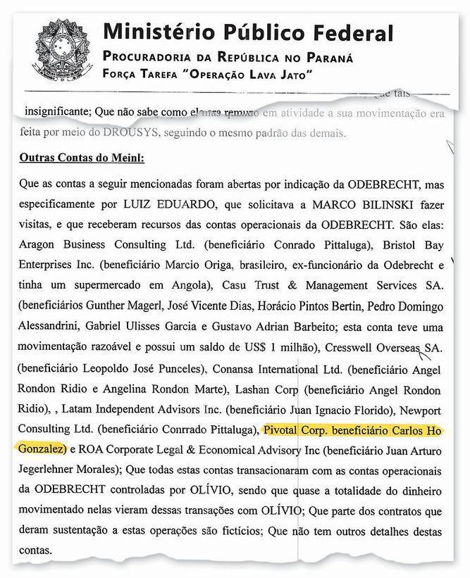 Carlos Ho, señalado en Brasil